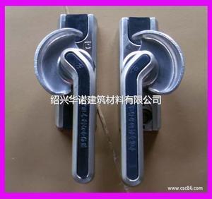 铝塑推推拉门窗锁专利月牙锁