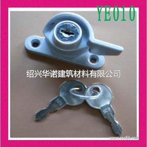 铝合金塑钢推拉门窗带钥匙月牙锁