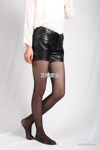 2013秋冬新款女装 欧美风 双袋真皮羊皮短裤