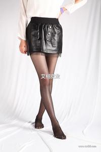 2013秋冬新款女装 欧美风 蕾丝内衬真皮羊皮短裙