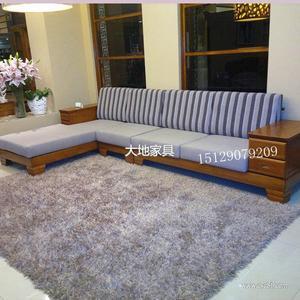 纯实木水曲柳转角沙发