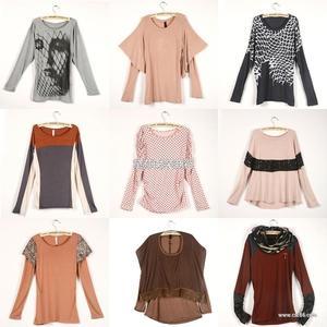 外贸服装,外贸长袖T恤吊牌女装,外贸秋装杂款原单尾货