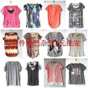 深圳外贸韩版女装,外贸服装,品牌杂款T恤清仓甩卖