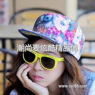 平沿棒球帽可爱女生帽子