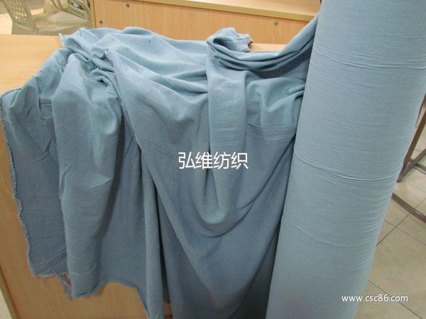 8安水洗浅蓝牛仔布 服装手袋箱包鞋帽用布大图一