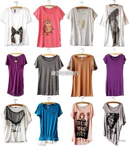 清仓韩版短袖T恤 外贸品牌杂款女装T恤