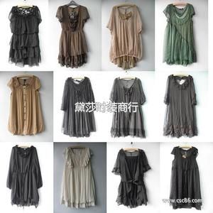 热销外贸品牌连衣裙 大码连衣裙 品牌杂款连衣裙