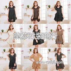 外贸品牌雪纺连衣裙 宽松连衣裙 时尚日韩欧美连衣裙