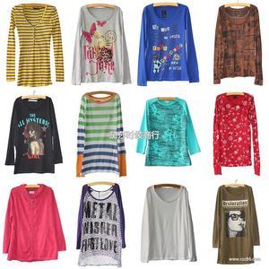 长袖秋装打底衫T恤 9.9元厂家直销便宜的长袖打底衫T恤女装