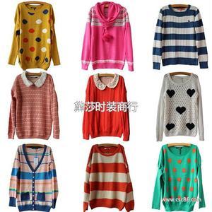 外贸品牌原单正品毛衣 整单批发针织毛衣 韩版针织毛衣