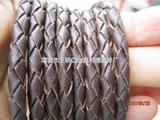 纯牛皮编织绳 牛皮工艺绳 真皮编织绳