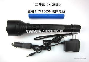 LED强光手电筒工厂 cree q5防爆手电筒