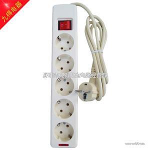 欧式电源插座五位欧标排插德式排插欧标接线板排插