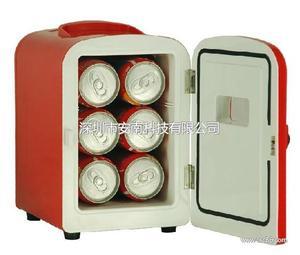 安南4L车载冰箱车家两用双制冷制热迷你冰箱便携