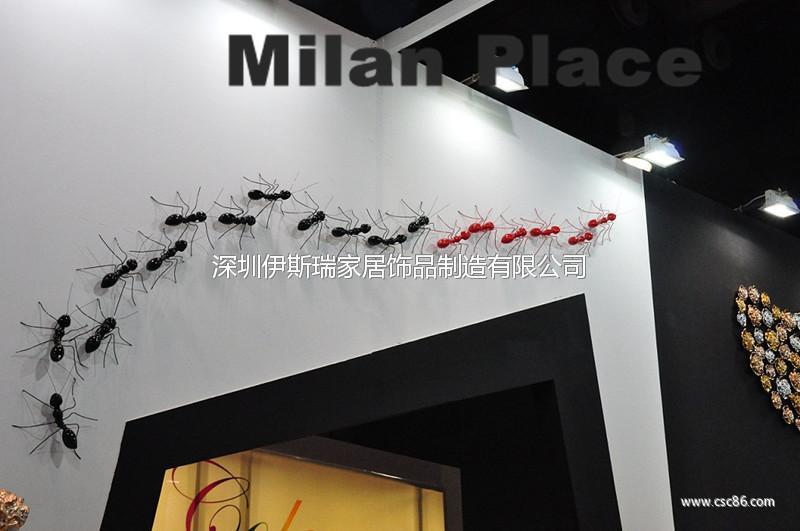 蚂蚁墙饰品欧式背景墙设计酒店前台公司前台酒吧前台