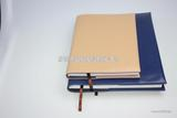 供应高级皮纹变色PU插入式胶装本 文具笔记本