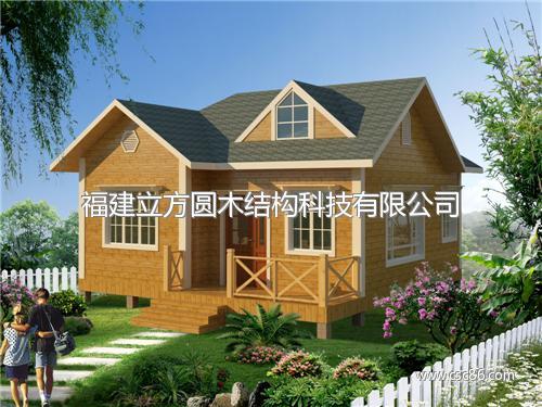 木材组装的小别墅图片