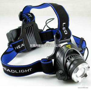 狼眼户外可变焦头灯 三档强光充电钓鱼灯