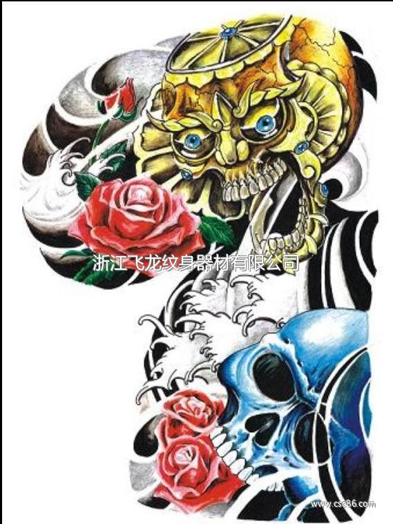 八臂哪吒降龙纹身; 虚空藏菩萨纹身图案 (569x759)-遮盖纹身之 虚图片
