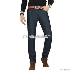 男式修身保暖牛仔裤 男装牛仔裤加绒长裤49元批发