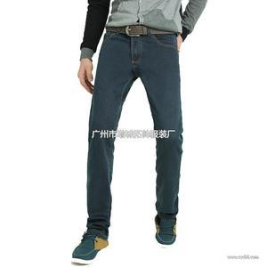 批发加绒牛仔裤男 加厚修身牛仔长裤 批发零售