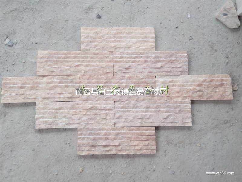 河南鑫磊大理石蘑菇石文化石影视墙图片_石材石料2