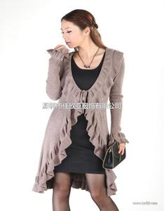 秋装新款V领开衫 韩版大码长袖外套