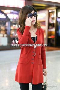 春秋季新款韩版修身女开衫厚薄款长袖外套