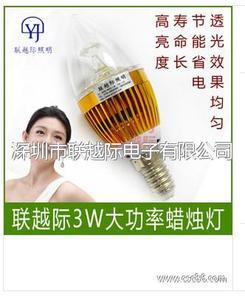 LED蜡烛灯 3w水晶吊灯光源 E14 蜡烛灯 led光源