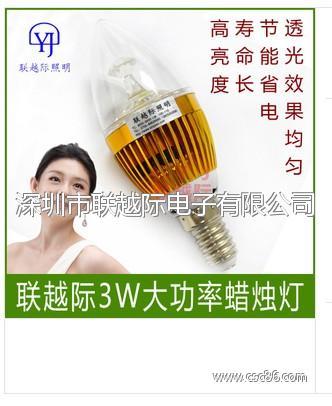 LED蜡烛灯 3w水晶吊灯光源 E14 蜡烛灯 led光源大图一