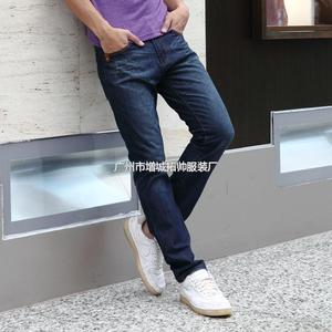 新塘牛仔裤批发 直筒牛仔长裤 男装四季可穿