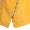 2013冬装新款欧美中高领纯色长袖皮质大码女装外套A5235小图四