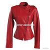 2013冬装新款欧美中高领纯色长袖皮质大码女装外套A5235小图二