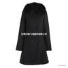2013冬装新款欧美狐狸毛领羊毛呢子大衣修身外套6454A小图三