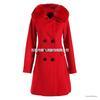 2013冬装新款欧美狐狸毛领羊毛呢子大衣修身外套6454A小图二