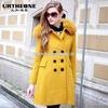 2013冬装新款欧美狐狸毛领羊毛呢子大衣修身外套6454A小图一