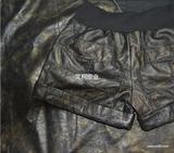 供应绵羊皮复古油蜡服装革 烫金抓花皮服装革 时尚仿古风