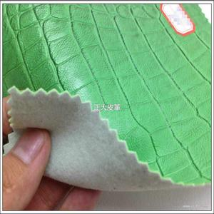 PVC复古绿色石头纹箱包手袋合成革 皮料
