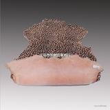 直销澳洲进口雪地靴专用光面漆皮豹纹印花皮毛一体羊皮革