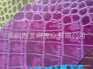 头层压纹牛皮 手机皮套 箱包 小 中 大鳄鱼纹 彩色 亚光