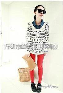 新款韩版秋冬女装中长款毛衣欧美十字针织衫毛衫