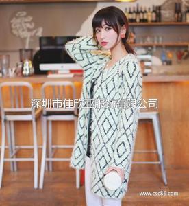 秋装女装新款韩版中长款圆领马海毛针织衫开衫