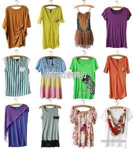 日韩杂款女装 外贸尾货打包服装 5元最便宜的杂款短袖T恤女装