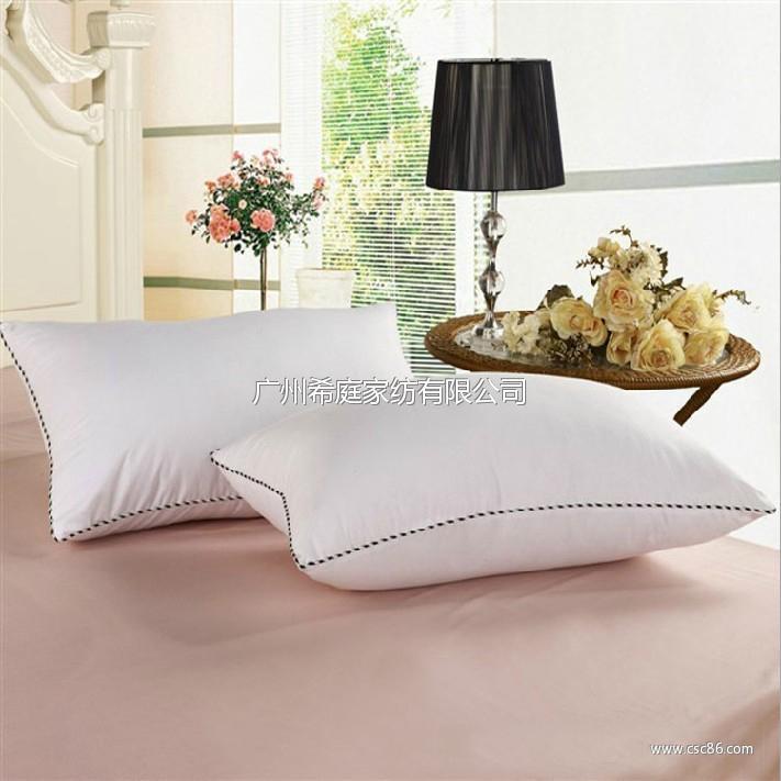 高弹白色磨毛枕芯 枕头 单人枕头芯特价促销