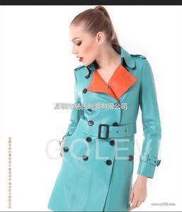 戈莱薇2014年新款双面皮皮衣 真皮风衣皮大衣