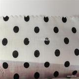 白底圆点布 全棉活性印花布 饰品布