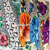 时尚活性印花布 多色 可批发 服装布 装饰布