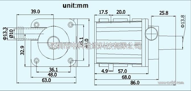 电压24v扬程7米,微型无刷直流水泵dc40a