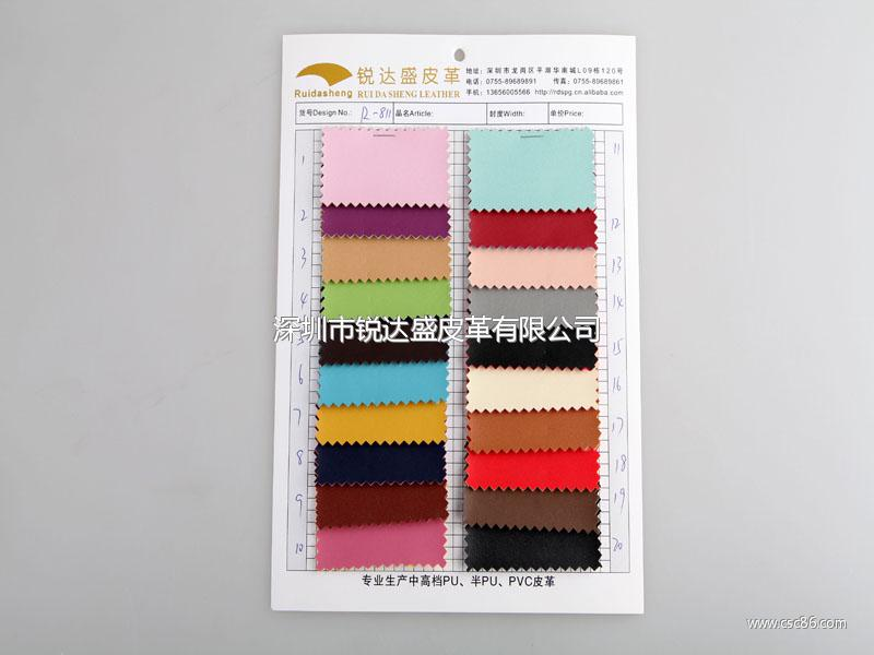 厂价直销R-811彩边小针纹PVC革/PVC人造革大图一