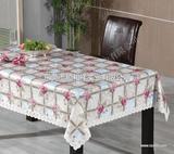 欧式餐桌布,PVC法兰绒欧式餐桌布